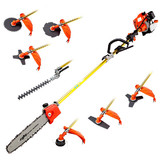 33CC 8-in-1 Pole Chainsaw, Brush Cutter & Whipper Snipper Tool