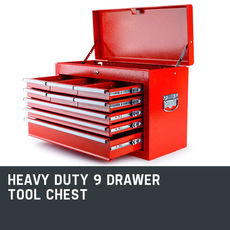 NEW-BULLET-9-Drawer-Tool-Box-Chest-Mechanic-Garage-Storage-Toolbox-Organiser-Set thumbnail 46