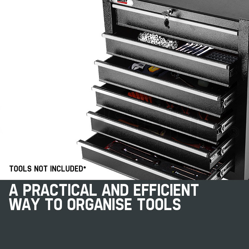 BULLET-6-Drawer-Tool-Box-Cabinet-Trolley-Garage-Toolbox-Mechanic-Storage-Chest thumbnail 19